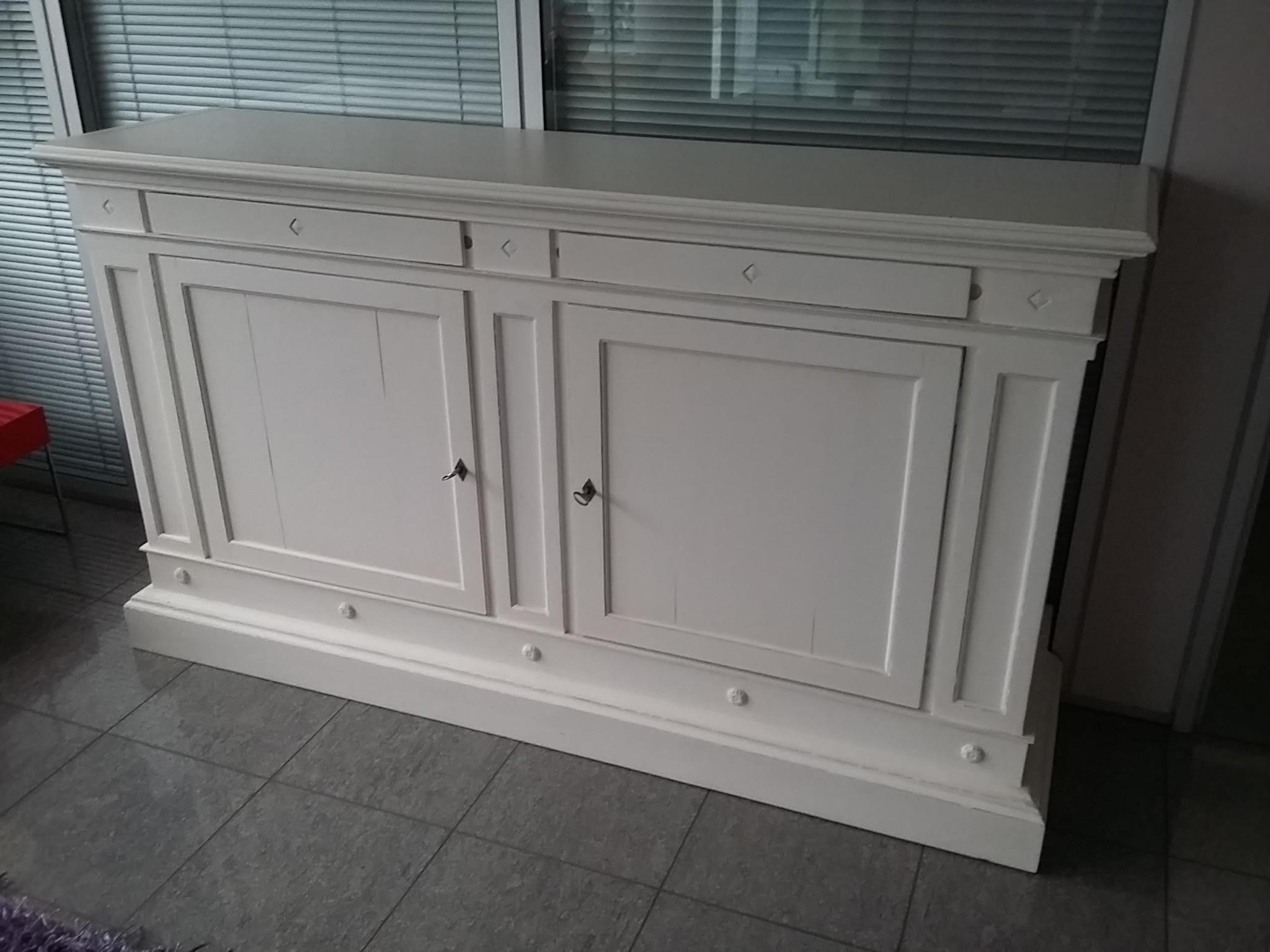 Credenza legno massiccio madia laccata bianca visma for Visma arredo outlet