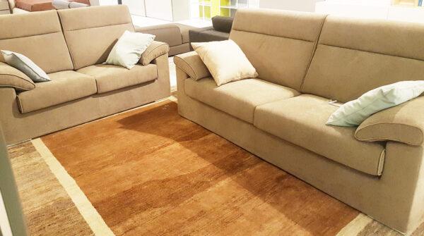 N 2 divani in pelle bianca mod curva visma arredo outlet for Visma arredo 1