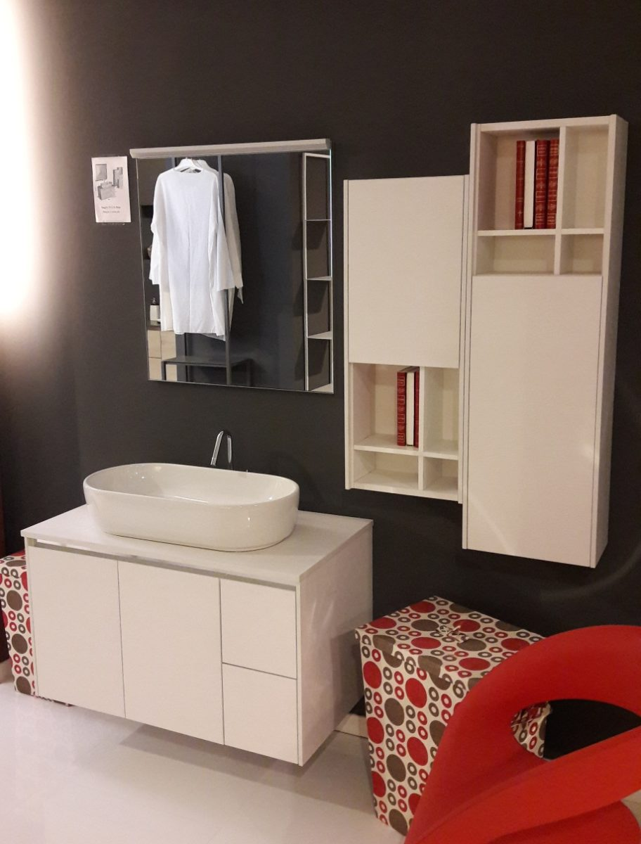 bagno sospeso in legno bianco visma arredo outlet