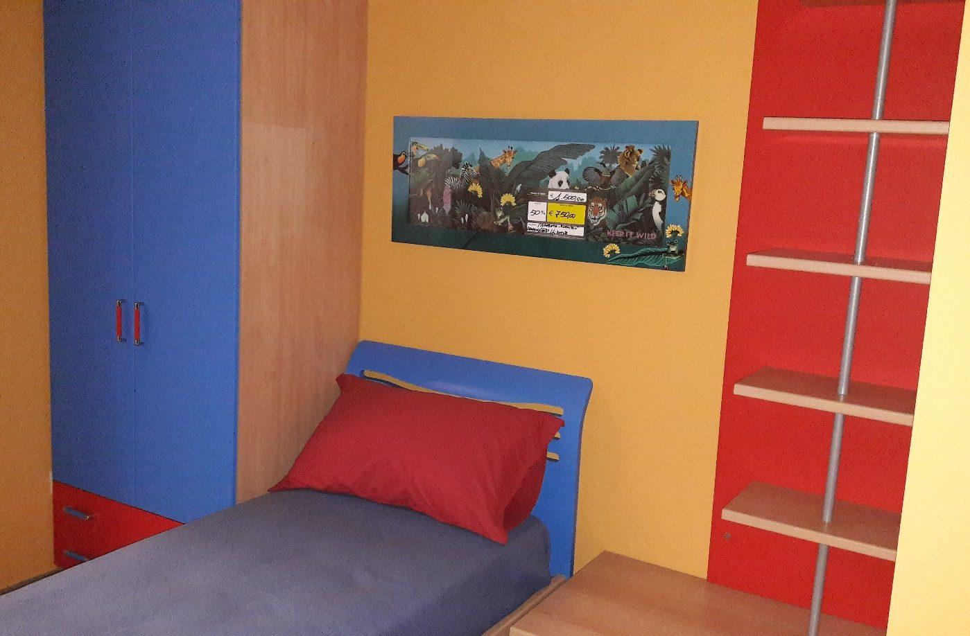 Piccola cameretta young letto e armadio 2 ante visma for Visma arredo letti
